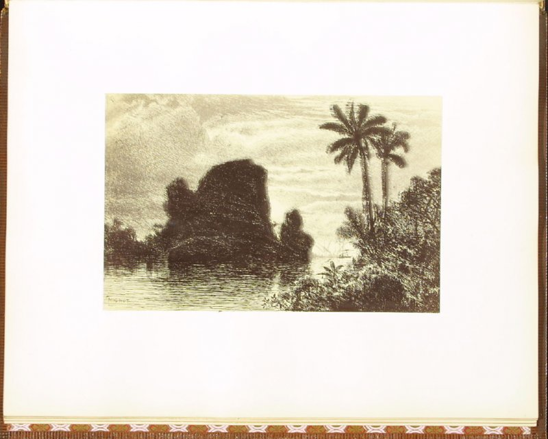 The Tropics, accompanied by verses by R. H. Stoddard, eleventh plate in the book Autograph Etchings by American Artists (New York: W. A. Townsend & Company, 1859)