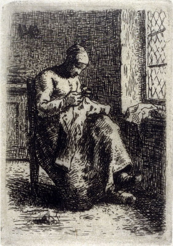 La Couseuse (Woman Sewing)