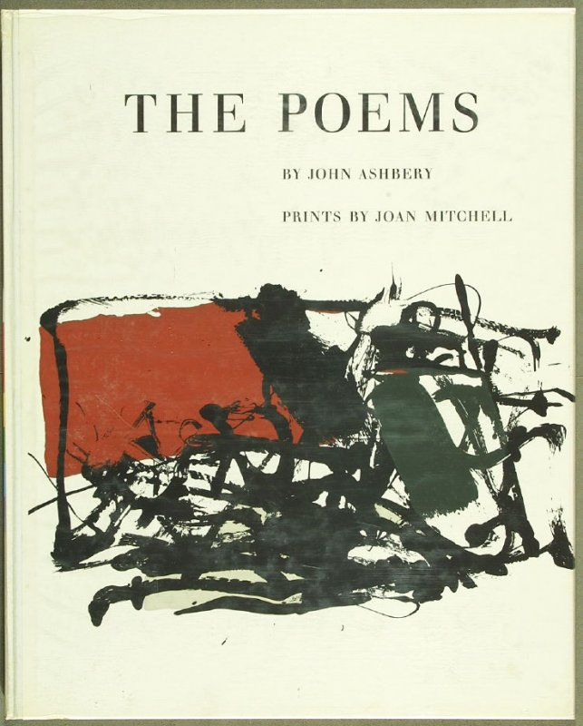 Cover for the book The Poems by John Ashbery in the Portfolio of 4 Books of Poetry (New York: Tiber Press, 1960)