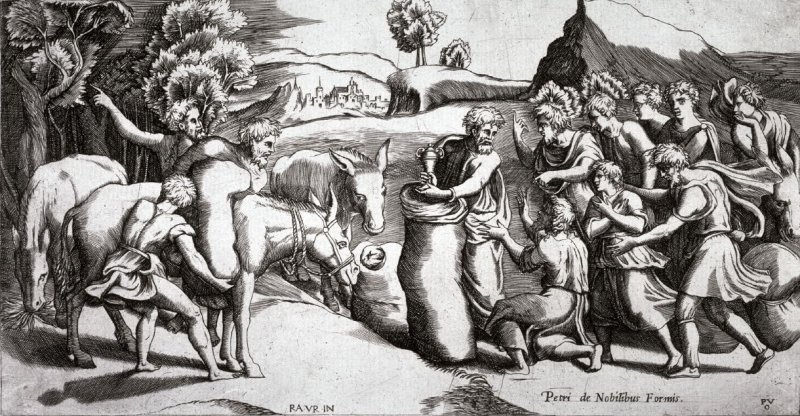 The Cup found in Benjamin's sack, after Raphael