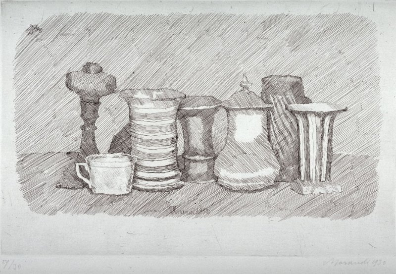 Natura Morte con la Tazzina Bianca a Sinistra (Still Life with the White Cup at the Left)