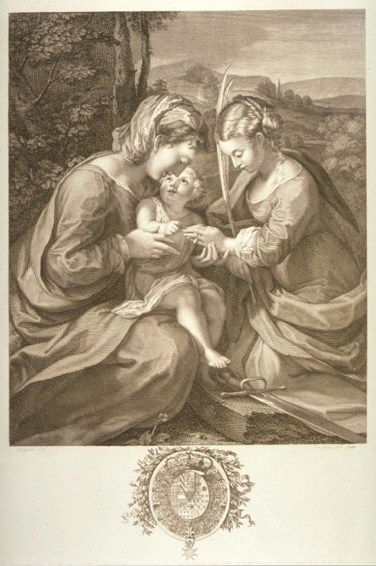 The Mystic Marriage of S. Catherine of Siena, after Correggio