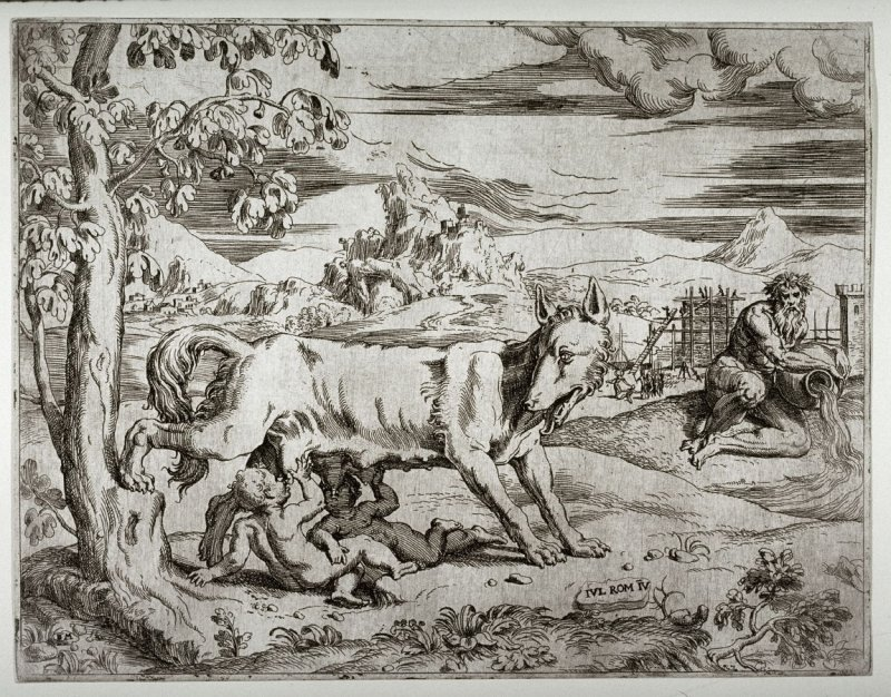 Romulus and Remus, after Giulio Romano.