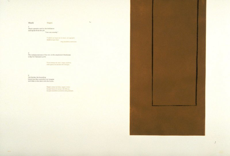 Black/ Negro 1-3, page in the unbound book A la pintura/ To Painting