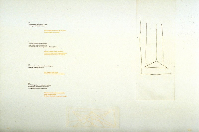 Untitled (White10-13), page in the unbound book A la pintura/ To Painting
