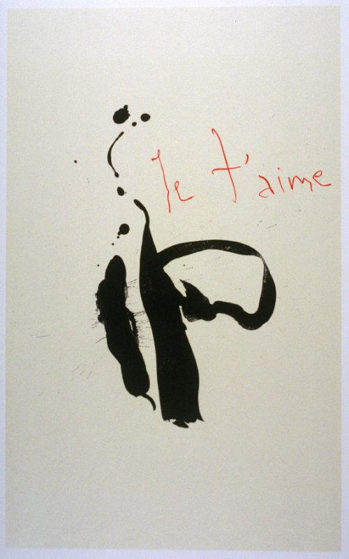 Je t'aime in the book Three Poems (New York: The Limited Editions Club, 1987)