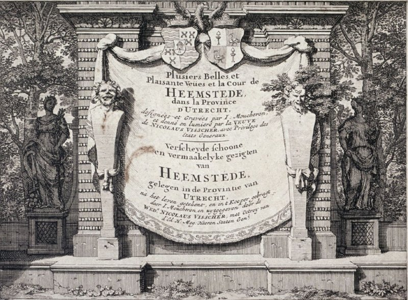 Title page: a few beautiful and agreeable views and the Court of Heemstede in the Province of Utrecht