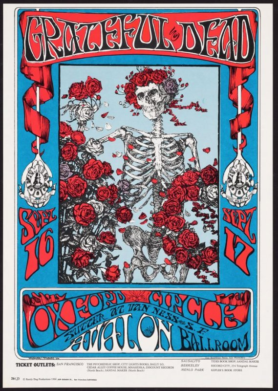 """Skeleton and Roses,"" Grateful Dead, Oxford Circle, September 16 & 17, Avalon Ballroom"