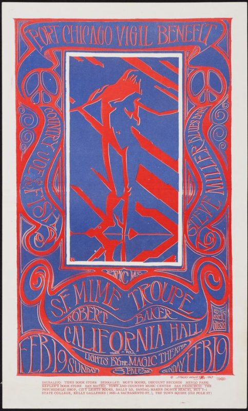 """Port Chicago Vigil Benefit"", Country Joe & the Fish, Steve Miller Blues Band, S.F. Mime Troupe, Robert Baker, February 19, California Hall"