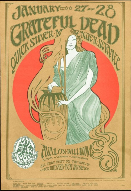 """""""Girl in the Red Circle,"""" Grateful Dead, Quicksilver Messenger Service, January 27 & 28, Avalon Ballroom"""