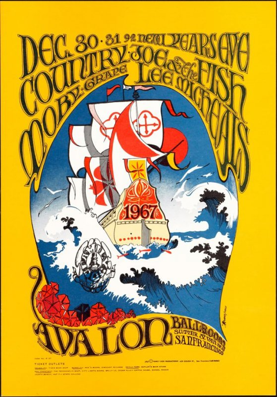 """""""Ship,"""" Country Joe and the Fish, Moby Grape, Lee Michaels, December 30 & 31, Avalon Ballroom"""