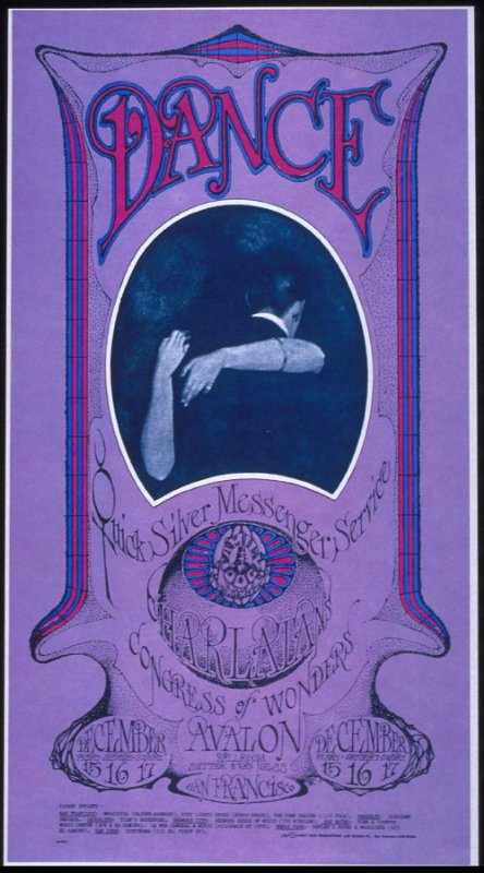 """Dance Dance,"" Quicksilver Messenger Service, Charlatans, Congress of Wonders, December 15 - 17, Avalon Ballroom"