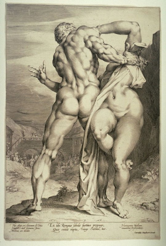 Roman soldier abducting a Sabine woman