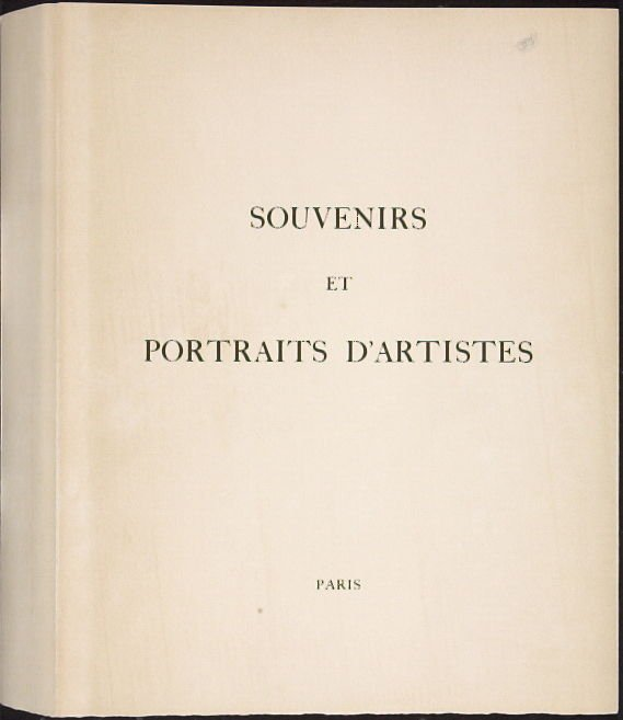 Souvenirs et portraits d'artistes (Reminiscences and Portraits of Artists) by Fernand Mourlot (Paris: Alain c. Mazo, 1972 and in New York: Léon Amiel, 1972).