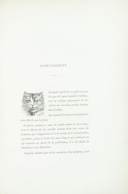 Untitled,detail for advertisement page, pg. VI, in the book Les Chats (Cats) by Champfleury (Paris: J. Rothschild, 1870).