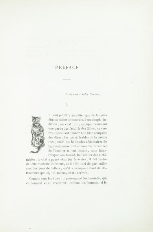 Untitled, detail for preface pg. VII, in the book Les Chats (Cats) by Champfleury (Paris: J. Rothschild, 1870).