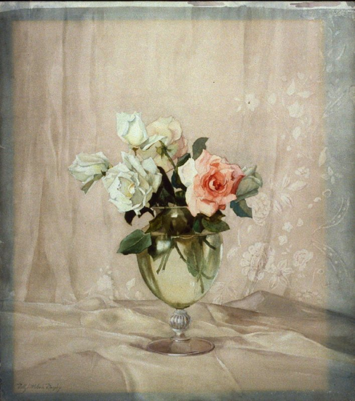 Roses in a Crystal Vase