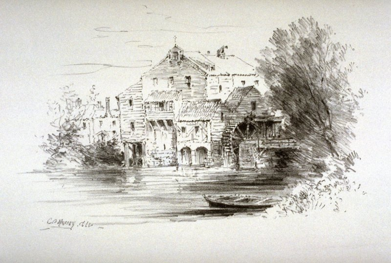 A Water-mill, seventh plate from the portfolio Sketches Made on the Lithography Night 14 April 1905 by Members of the Art Workers Guild, Clifford Inn Hall and Published for the Benefit of the Chest
