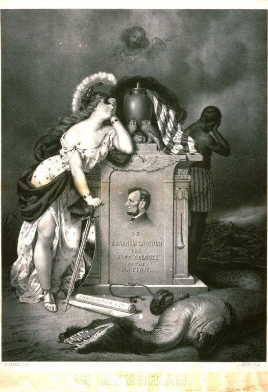In Memoriam of Abraham Lincoln presented to subsribers of the Puck, the Pacific Pictorial