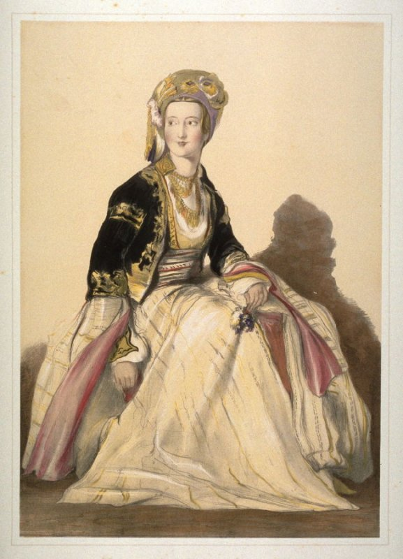 Mrs. Young, wife of the Consul at Jerusalem, in an Eastern dress