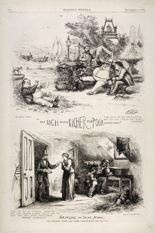 The Tammany Lords and Their Constituents, from Harper's Weekly, (September 2, 1871), p. 812