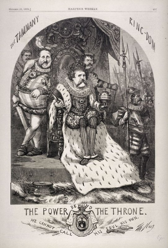 The Tammany Ring-dom, from Harper's Weekly, (October 29, 1870), p. 697