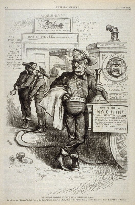 """The Foremost Champion of This Spirit of Reform""- H. Seymour, from Harper's Weekly, (May 20, 1876), p. 404"
