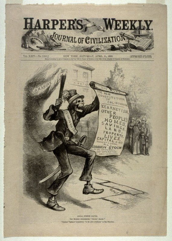 Social Science Solved, from Harper's Weekly, (April 10, 1880, cover page