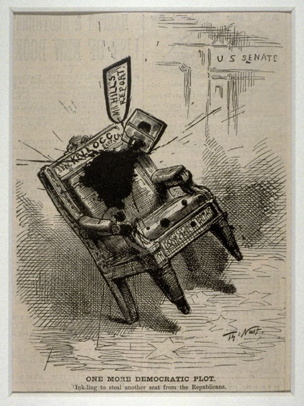 One More Democratic Plot, from Harper's Weekly, (April 10, 1880)