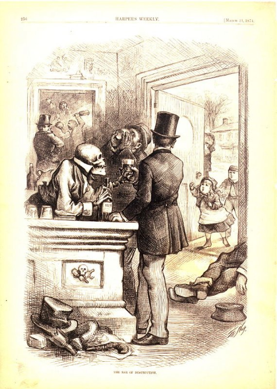 The Bar of Destruction, from Harper's Weekly,  (21 March 1874), p. 256