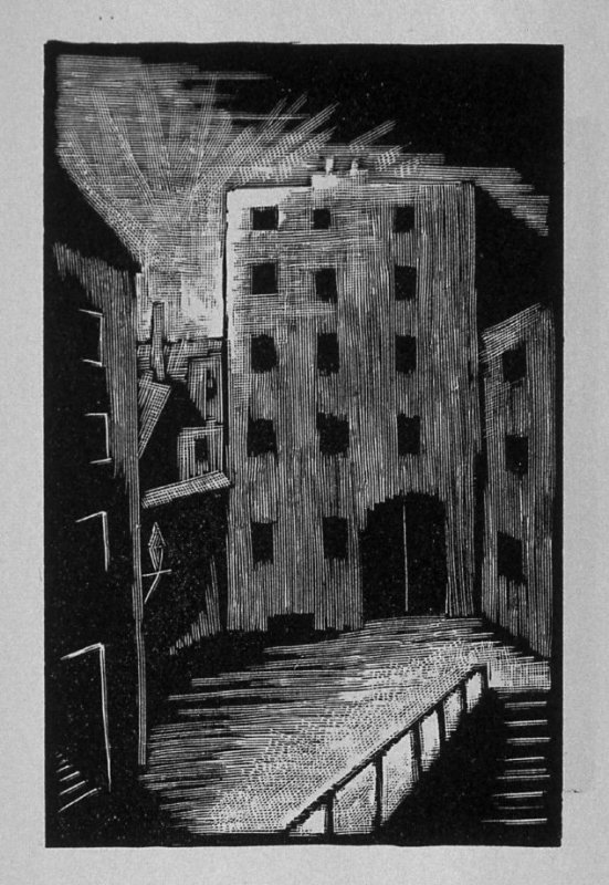 First image (of eight) for Childhood , chapter 1 in the book Destiny, A Novel in Pictures by Otto Nückel (New York: Farrar and Rinehart,Inc. [1930 ])