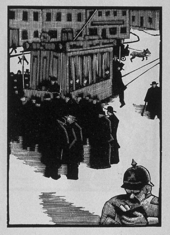 Third image (of six) for The Father , chapter 2 in the book Destiny, A Novel in Pictures by Otto Nückel (New York: Farrar and Rinehart,Inc. [1930 ])