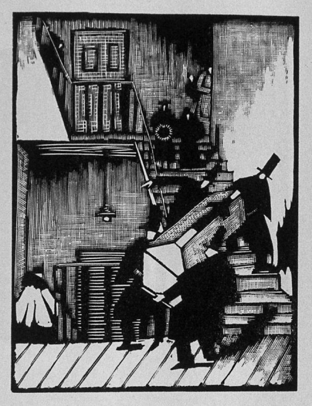 Sixth image (of six) for The Father , chapter 2 in the book Destiny, A Novel in Pictures by Otto Nückel (New York: Farrar and Rinehart,Inc. [1930 ])