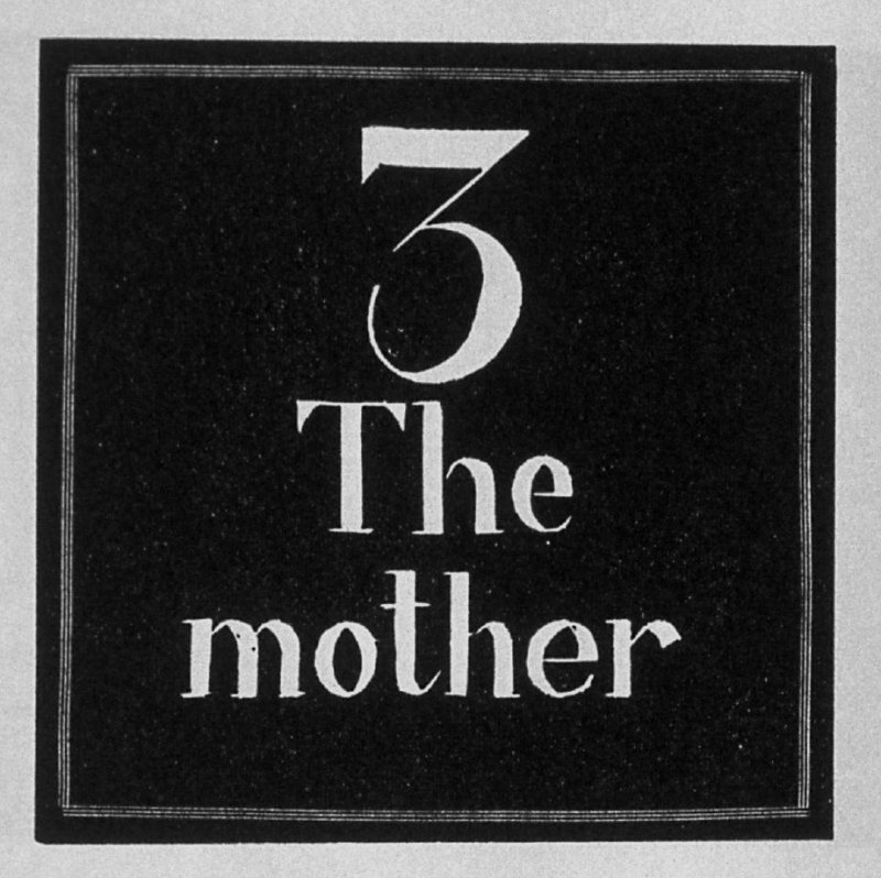 Heading for Chapter 3, The Mother, in the book Destiny, A Novel in Pictures by Otto Nückel (New York: Farrar and Rinehart,Inc. [1930 ])