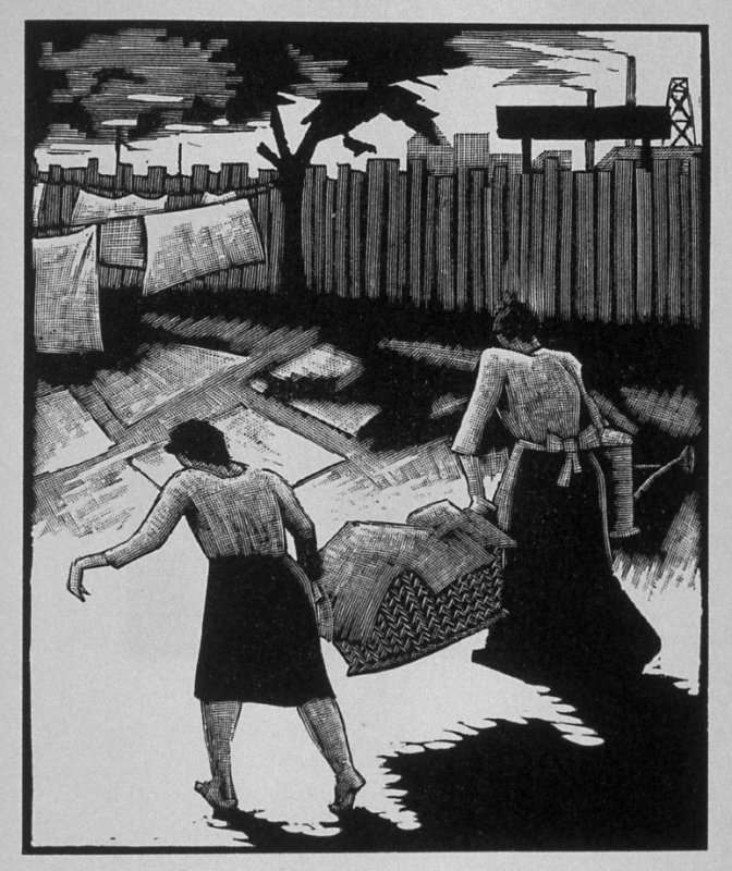 Second image (of thirteen) for The Mother , chapter 3 in the book Destiny, A Novel in Pictures by Otto Nückel (New York: Farrar and Rinehart,Inc. [1930 ])