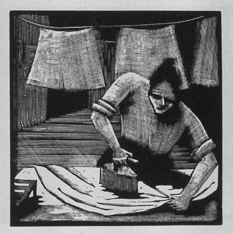 Third image (of thirteen) for The Mother , chapter 3 in the book Destiny, A Novel in Pictures by Otto Nückel (New York: Farrar and Rinehart,Inc. [1930 ])