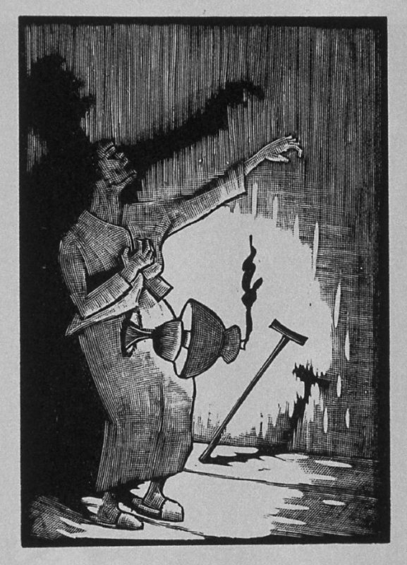 Seventh image (of thirteen) for The Mother , chapter 3 in the book Destiny, A Novel in Pictures by Otto Nückel (New York: Farrar and Rinehart,Inc. [1930 ])