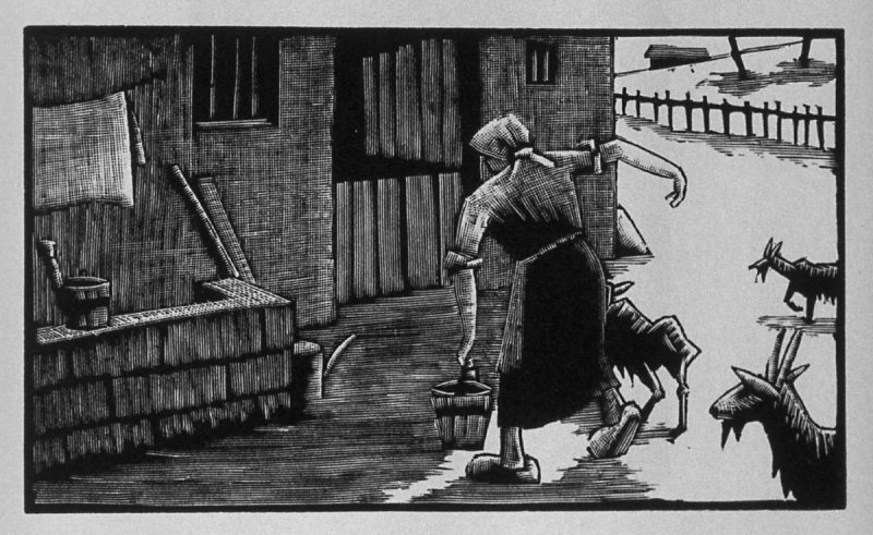 Fourth image (of four) for Service , chapter 4 in the book Destiny, A Novel in Pictures by Otto Nückel (New York: Farrar and Rinehart,Inc. [1930 ])