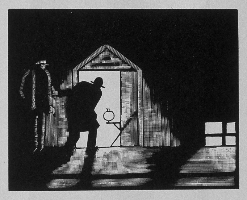 Third image (ofeleven) for Vengeance , chapter 9 in the book Destiny, A Novel in Pictures by Otto Nückel (New York: Farrar and Rinehart,Inc. [1930 ])