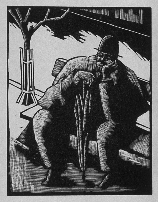 Sixth image (of nine) for The Taylor(sic) , chapter 10 in the book Destiny, A Novel in Pictures by Otto Nückel (New York: Farrar and Rinehart,Inc. [1930 ])