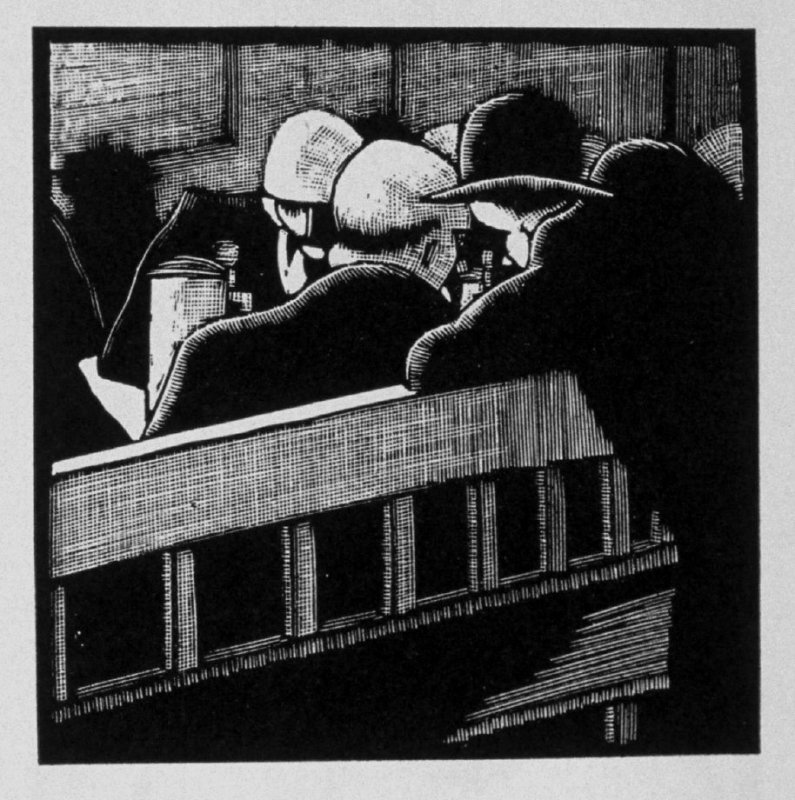 Fifth image (of ten) for The Sin , chapter 13 in the book Destiny, A Novel in Pictures by Otto Nückel (New York: Farrar and Rinehart,Inc. [1930 ])