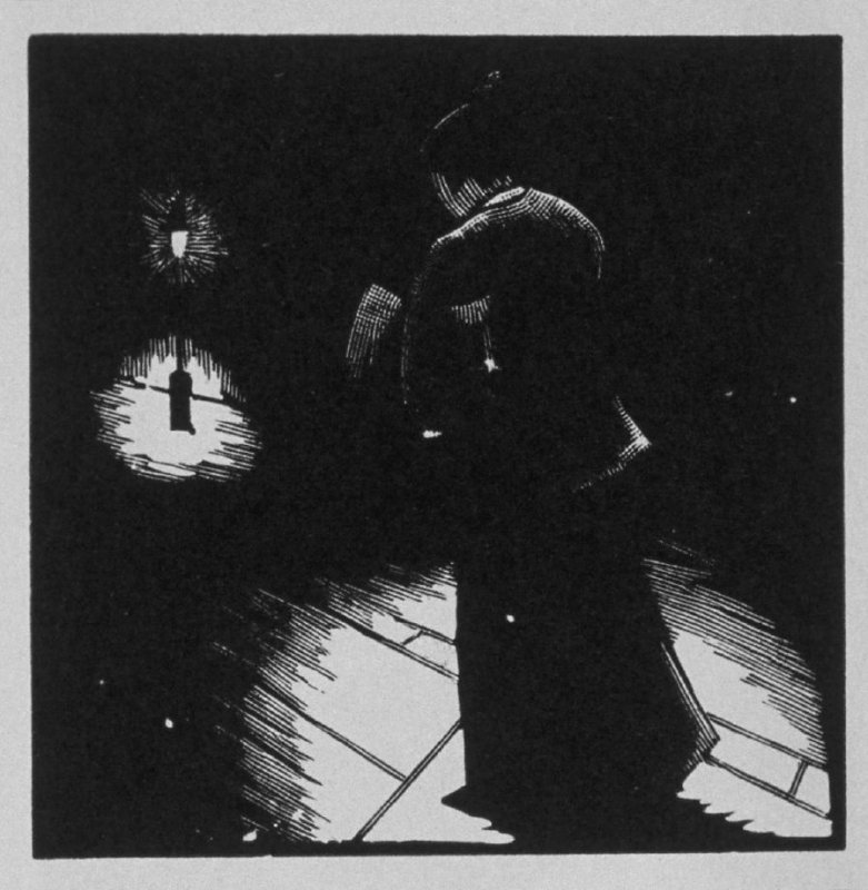 Eleventh image (of eighteen) for Burden , chapter 14 in the book Destiny, A Novel in Pictures by Otto Nückel (New York: Farrar and Rinehart,Inc. [1930 ])