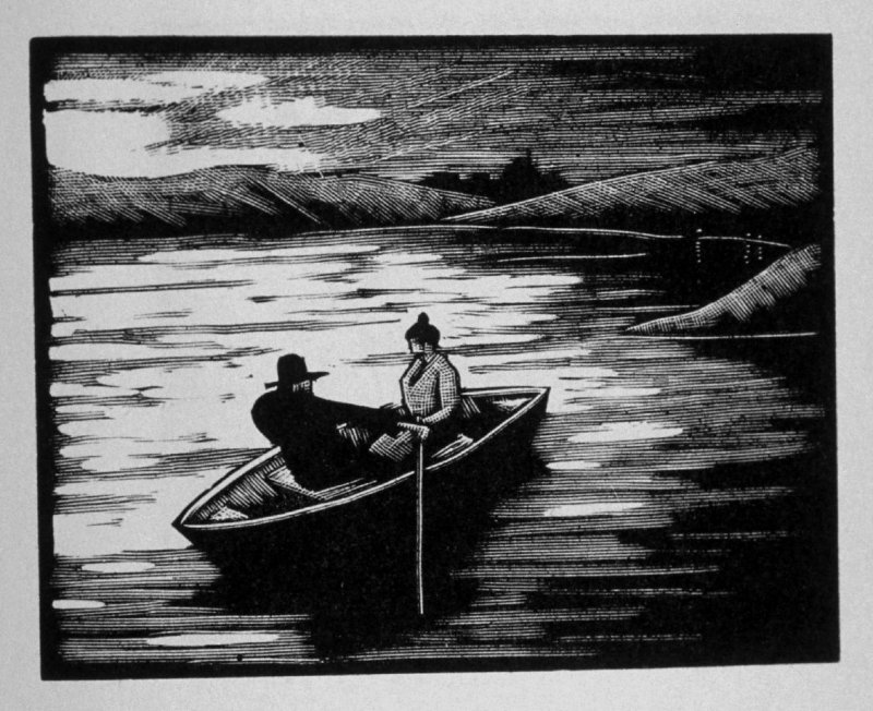 Fifth image (of nine) for Escape , chapter 16 in the book Destiny, A Novel in Pictures by Otto Nückel (New York: Farrar and Rinehart,Inc. [1930 ])