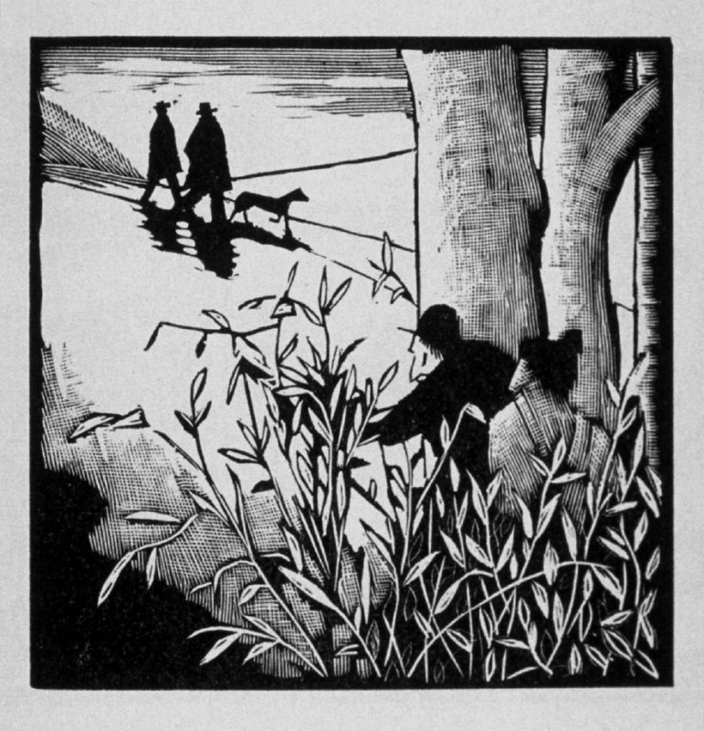 Sixth image (of nine) for Escape , chapter 16 in the book Destiny, A Novel in Pictures by Otto Nückel (New York: Farrar and Rinehart,Inc. [1930 ])