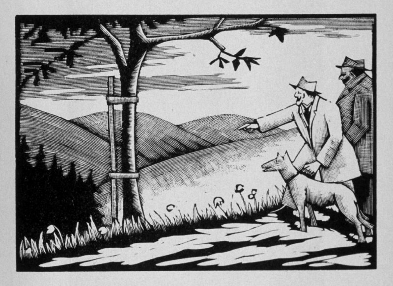 Seventh image (of nine) for Escape , chapter 16 in the book Destiny, A Novel in Pictures by Otto Nückel (New York: Farrar and Rinehart,Inc. [1930 ])