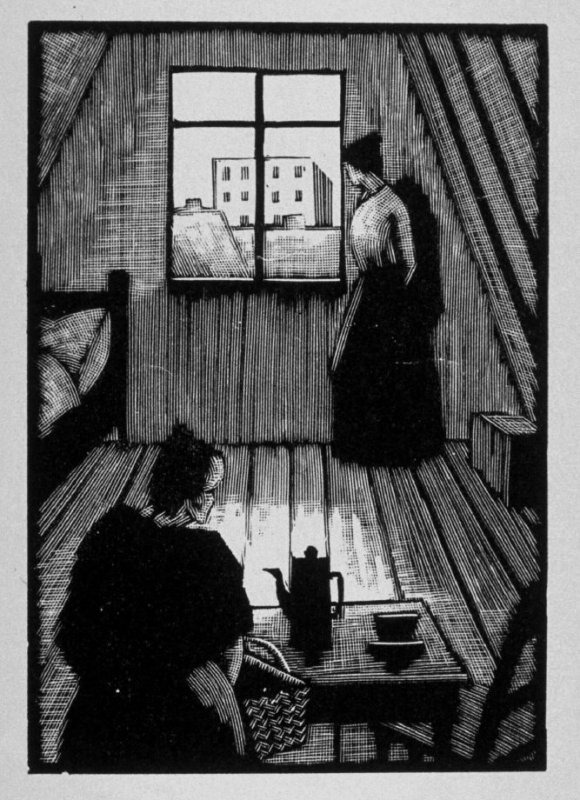 Fourth image (of fifteen) for The End , chapter 17 in the book Destiny, A Novel in Pictures by Otto Nückel (New York: Farrar and Rinehart,Inc. [1930 ])