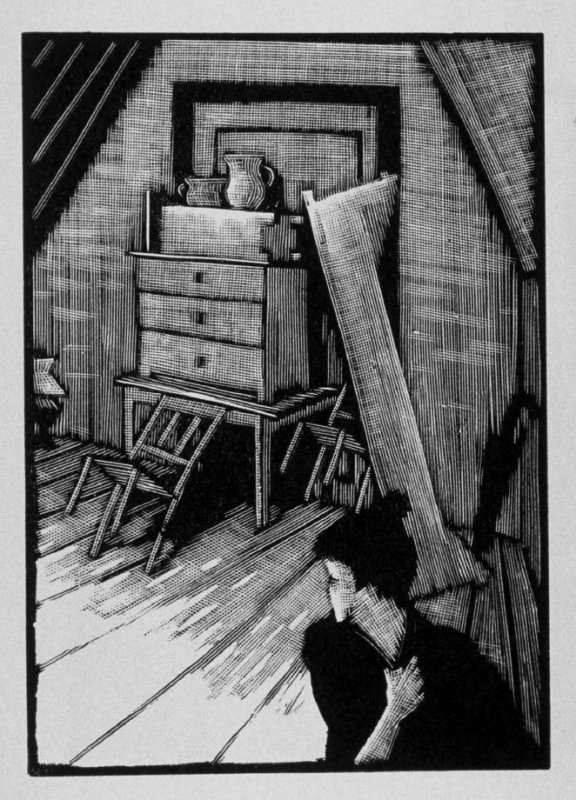 Ninth image (of fifteen) for The End , chapter 17 in the book Destiny, A Novel in Pictures by Otto Nückel (New York: Farrar and Rinehart,Inc. [1930 ])