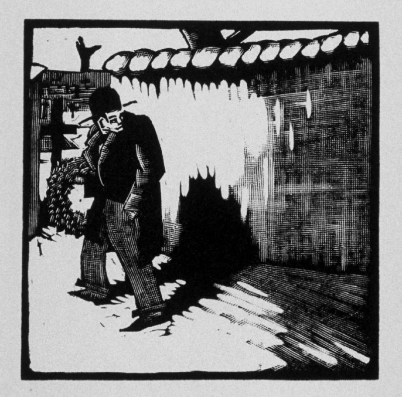 Fourteenth image (of fifteen) for The End , chapter 17 in the book Destiny, A Novel in Pictures by Otto Nückel (New York: Farrar and Rinehart,Inc. [1930 ])