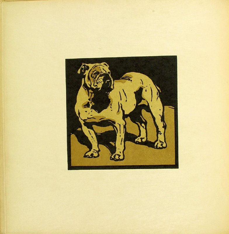 """Untitled, illustration accompanying the rhyme """"The British Bull-Dog,"""" in the book The Square Book of Animals (London: William Heinemann, 1900)"""