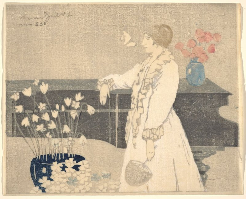 The Piano (also called The White Gown; At the Piano; The Lady at the Piano)